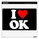 I LOVE OK SKINS FOR MacBook