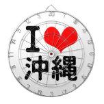 I Love Okinawa Dartboard With Darts