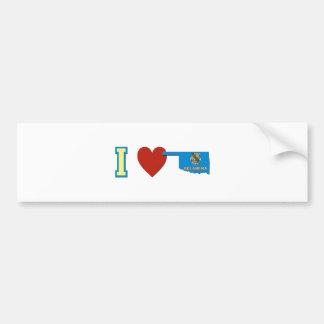 I Love Oklahoma Bumper Sticker