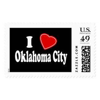 I Love Oklahoma City Postage Stamps