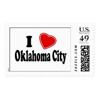 I Love Oklahoma City Postage Stamp
