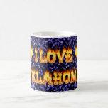 I love oklahoma fire and flames mug