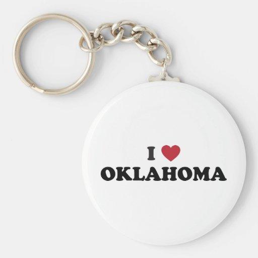 I Love Oklahoma Keychains