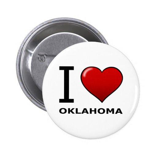 I LOVE OKLAHOMA PINS