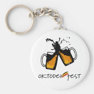I love oktoberfest basic round button keychain