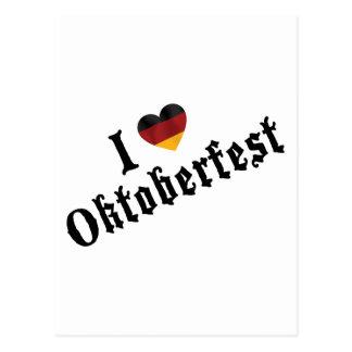 I Love Oktoberfest Gift Postcard