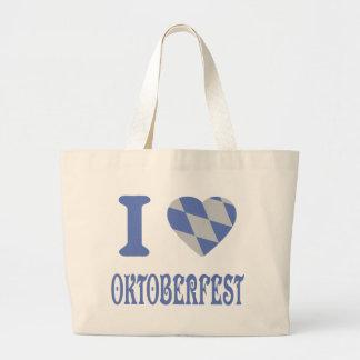 I love oktoberfest large tote bag