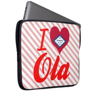 I Love Ola Arkansas Laptop Computer Sleeve