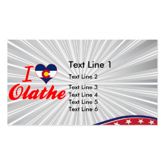 I Love Olathe, Colorado Double-Sided Standard Business Cards (Pack Of 100)