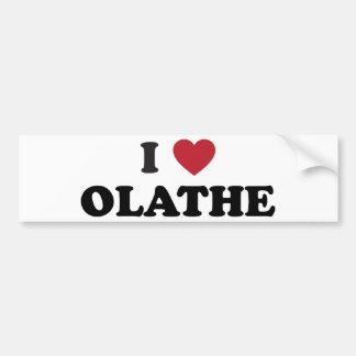 I Love Olathe Kansas Bumper Sticker
