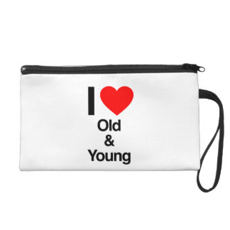 i love old and young wristlet purse