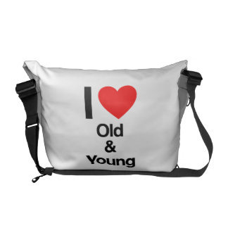i love old and young courier bags