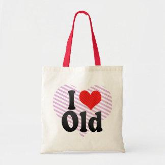 I Love Old Budget Tote Bag