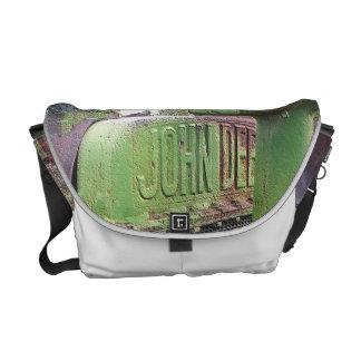 I love old green tractors messenger bag
