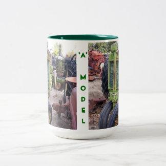 I love old green tractors Two-Tone coffee mug
