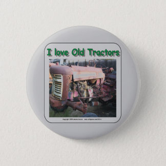 I love old IH tractors Pinback Button