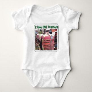 I love old International Harvester tractors Baby Bodysuit