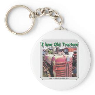 I love old International Harvester tractors Keychain