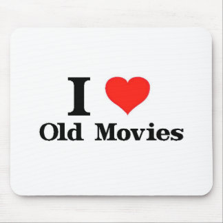 I Love Old Movies Mouse Pad