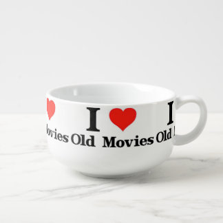 I Love Old Movies Soup Bowl With Handle