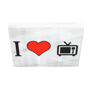 I Love Old Televisions Canvas Print