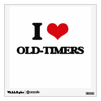 I Love Old-Timers Wall Graphics