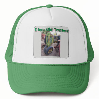 I love old  tractors trucker hat