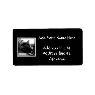 I love old trains - Arcade and Attica Railroad Personalized Address Label