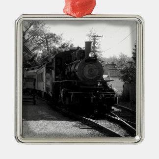 I love old trains - Arcade and Attica Railroad Metal Ornament