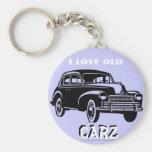 """I love old Vintage Carz!"" Keychains"