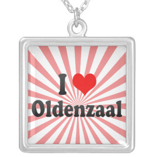 I Love Oldenzaal, Netherlands Square Pendant Necklace