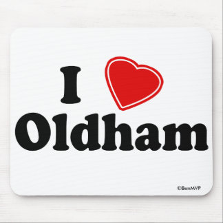 I Love Oldham Mouse Pad