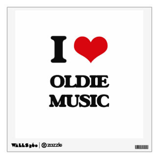 I Love OLDIE MUSIC Wall Decals
