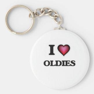 I Love Oldies Keychain
