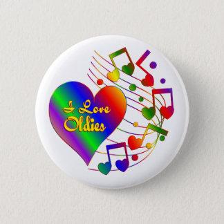 I Love Oldies Pinback Button