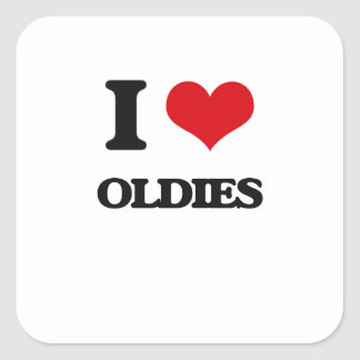 I Love Oldies Square Sticker