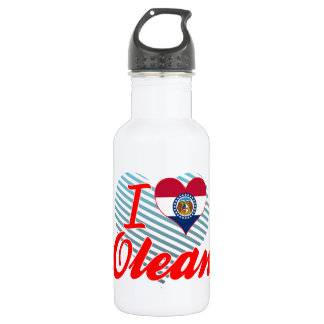 I Love Olean, Missouri 18oz Water Bottle
