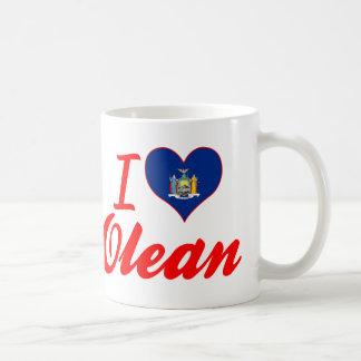 I Love Olean, New York Classic White Coffee Mug
