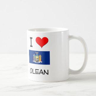 I Love Olean New York Classic White Coffee Mug