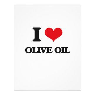 "I Love Olive Oil 8.5"" X 11"" Flyer"