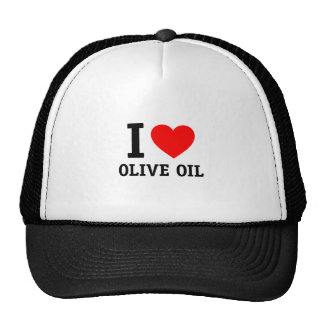 I Love Olive Oil Hats