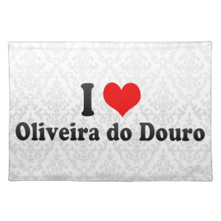 I Love Oliveira do Douro, Portugal Place Mats