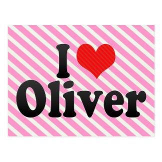 I Love Oliver Postcard