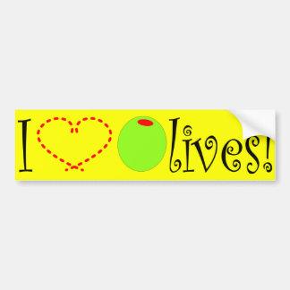 I Love Olives Bumper Sticker
