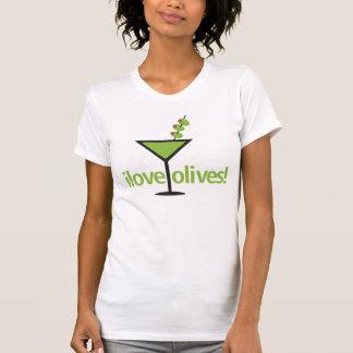 I Love Olives Designy Martini T-Shirt