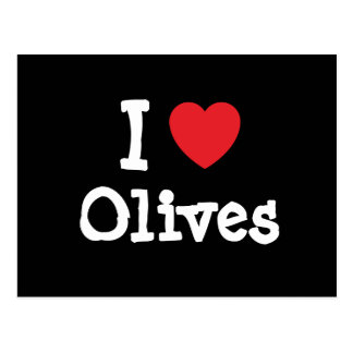 I love Olives heart T-Shirt Post Card