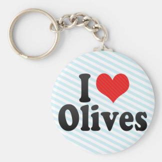 I Love Olives Keychain