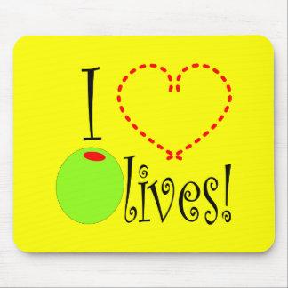 I Love Olives Mouse Pad