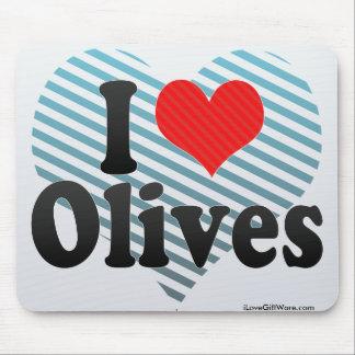 I Love Olives Mousepads