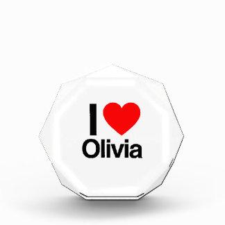 i love olivia acrylic award
